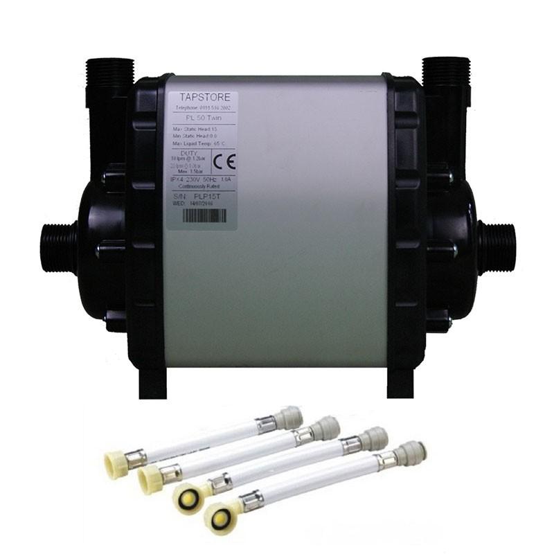 Turboboost 1.5 bar shower pump